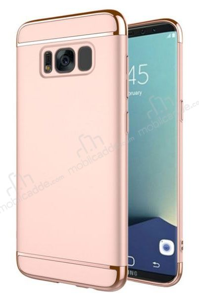 Eiroo Trio Fit Samsung Galaxy S8 3ü 1 Arada Rose Gold Rubber Kılıf