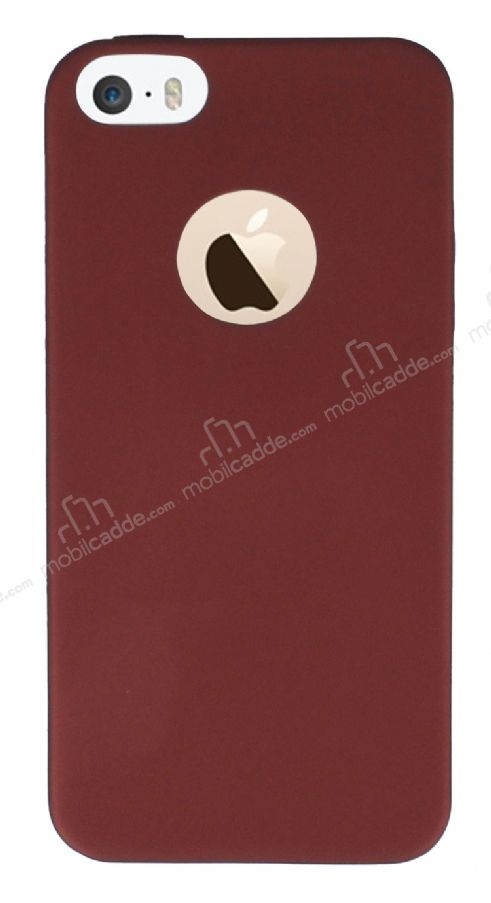 iPhone SE / 5 / 5S Mat Bordo Silikon Kılıf