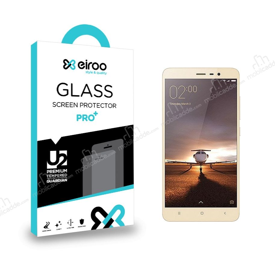 Eiroo Xiaomi Redmi Note 3 Tempered Glass Cam Ekran Koruyucu