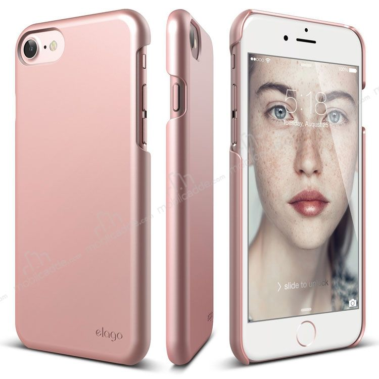 Elago Slim Fit iPhone 7 / 8 Rose Gold Rubber Kılıf