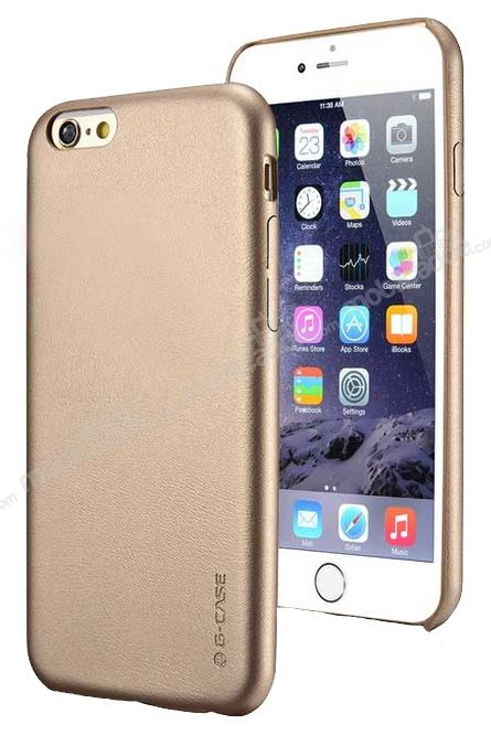 G-Case iPhone 6 / 6S Gold Ultra İnce Deri Kılıf
