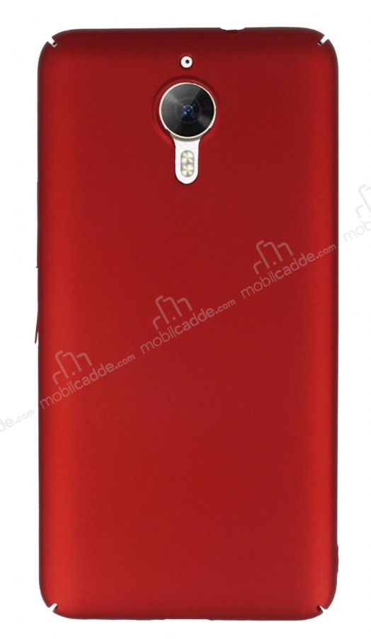 General Mobile GM 5 Plus Tam Kenar Koruma Bordo Rubber Kılıf