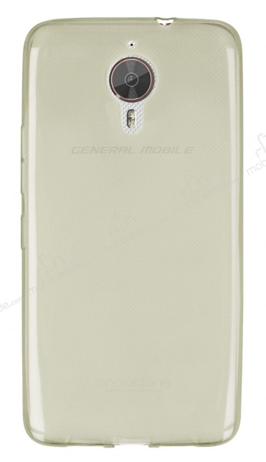 General Mobile GM 5 Plus Ultra İnce Şeffaf Gold Silikon Kılıf