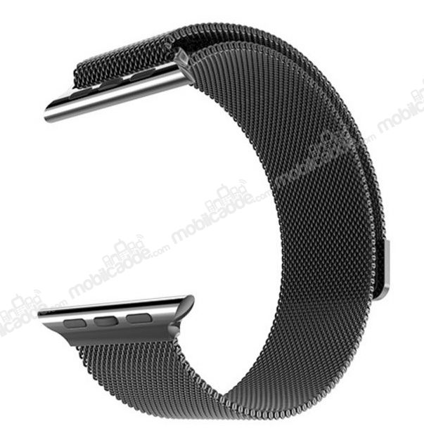 Hoco Apple Watch Milanese Loop Siyah Metal Kordon (42 mm)