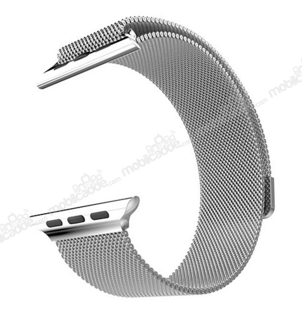 Hoco Apple Watch Milanese Loop Silver Metal Kordon (42 mm)