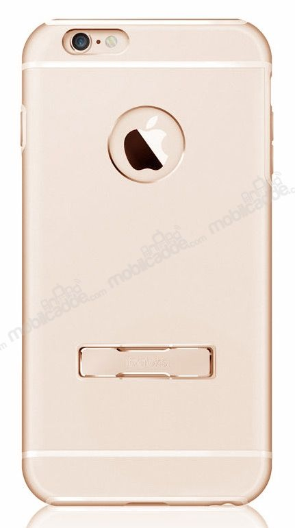 ibacks Armour iPhone 6 / 6S Standlı Alüminyum Gold Kılıf