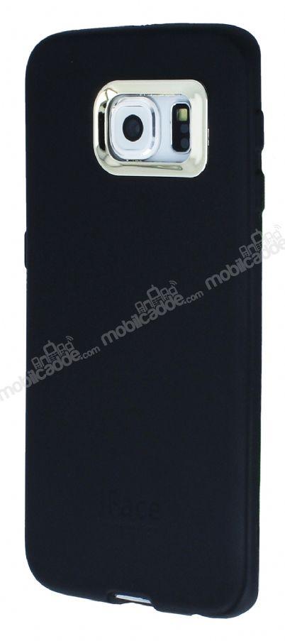 iface samsung galaxy s6 edge kamera korumal siyah silikon k l f. Black Bedroom Furniture Sets. Home Design Ideas