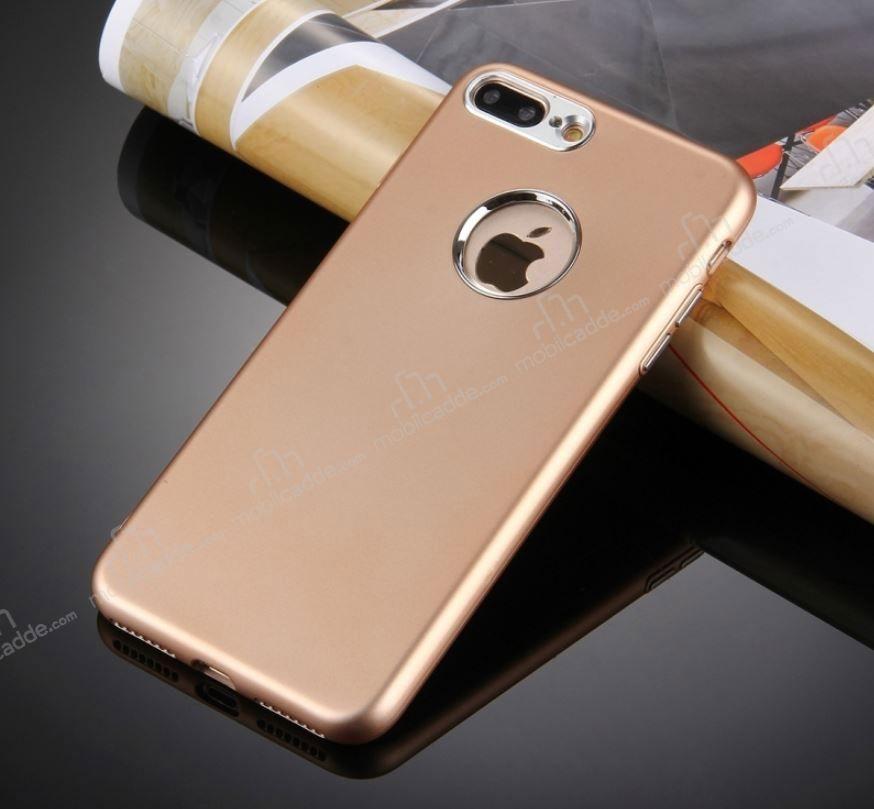 Iphone 7 Plus Kamera Korumalı Gold Silikon Kılıf