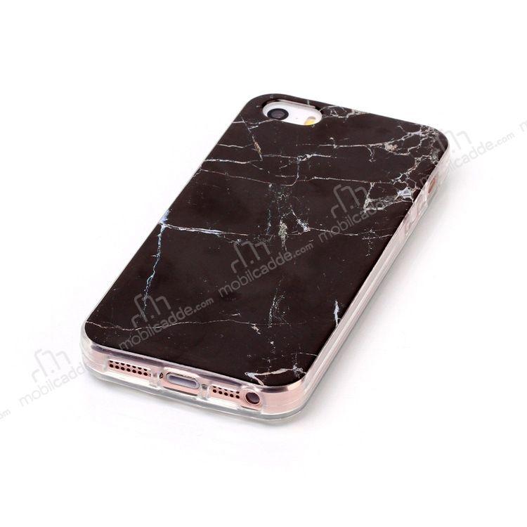 iphone se 5 5s granit g r n ml siyah silikon k l f. Black Bedroom Furniture Sets. Home Design Ideas