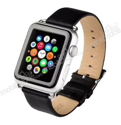 Joyroom Classic Buckle Apple Watch Siyah Deri Kordon (42 mm)