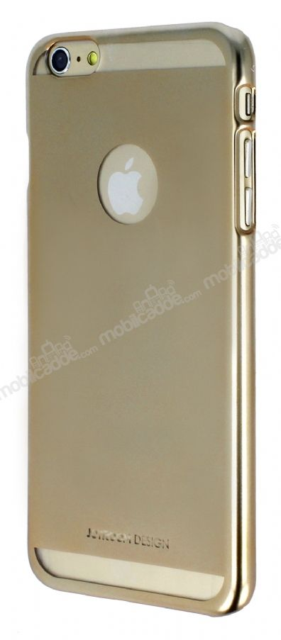 Joyroom iPhone 6 Plus / 6S Plus Metalik Gold Rubber Kılıf