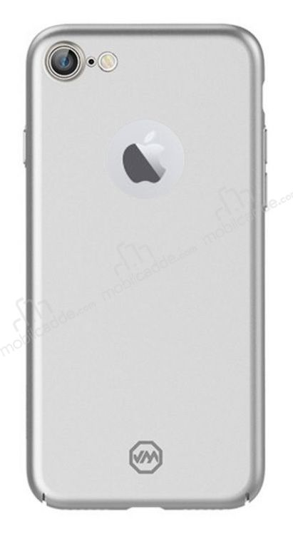 Joyroom iPhone 7 Tam Kenar Silver Rubber Kılıf