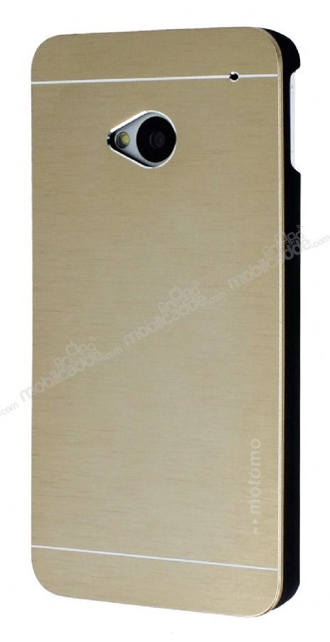 Motomo HTC One Metal Gold Rubber Kılıf