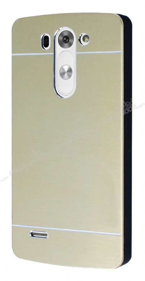 Motomo LG G3 Beat Metal Gold Rubber Kılıf