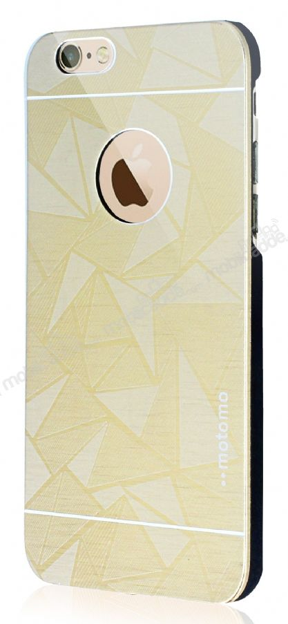 Motomo Prizma iPhone 6 Plus / 6S Plus Metal Gold Rubber Kılıf