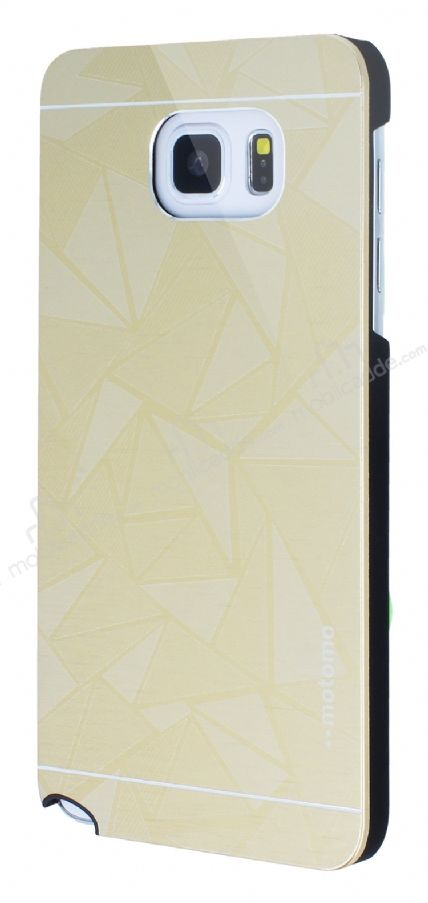 Motomo Prizma Samsung Galaxy Note 5 Metal Gold Rubber Kılıf