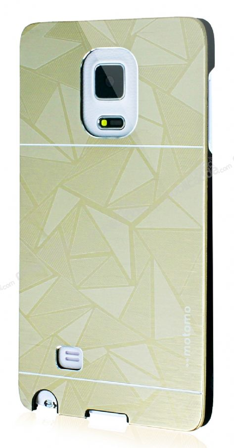 Motomo Prizma Samsung Galaxy Note Edge Metal Gold Rubber Kılıf