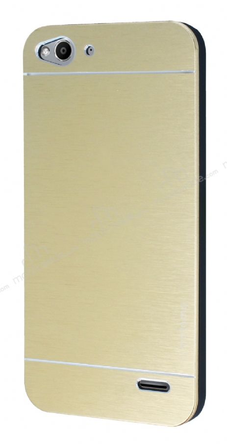 Motomo Vodafone Smart 6 Metal Gold Rubber Kılıf