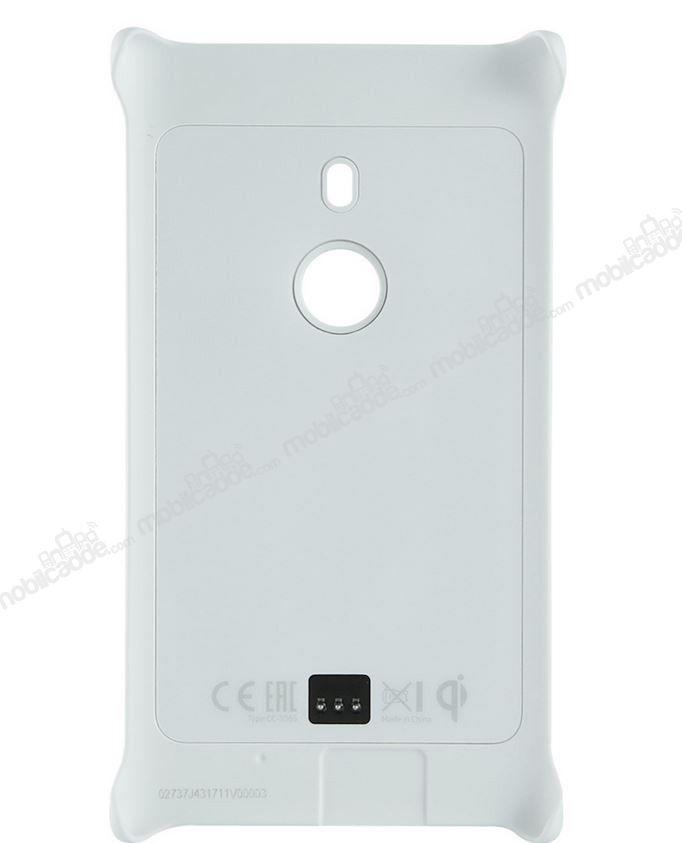 Lumia 925 cc 3065 orjinal wirelessla telefonu şarj eden beyaz kılıf