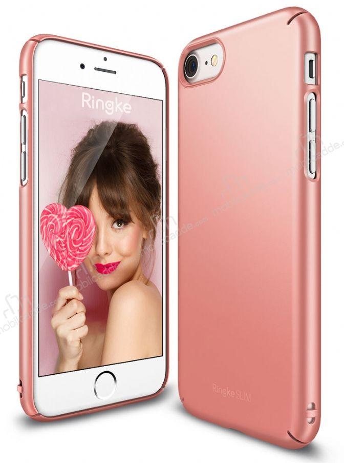 Ringke Slim iPhone 7 360 Kenar Koruma Rose Gold Rubber Kılıf