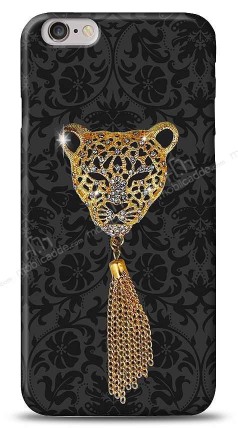 iPhone 6 Plus / 6S Plus Royal Leopard Taşlı Kılıf