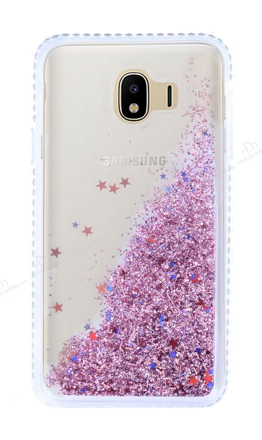 Samsung Galaxy J4 Simli Sulu Rose Gold Rubber Kılıf | Ücretsiz Kargo