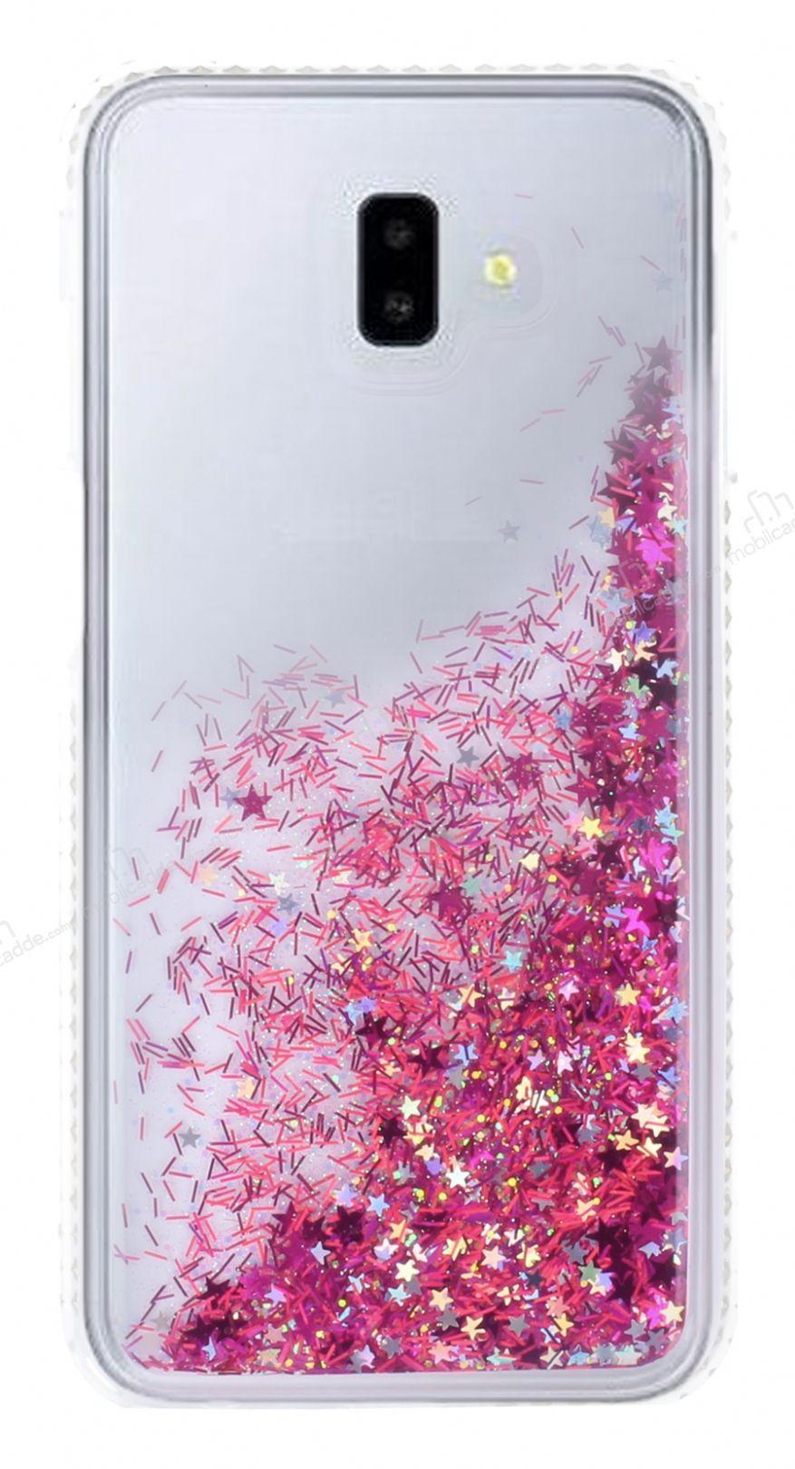 Samsung Galaxy J6 Plus Simli Sulu Pembe Rubber Kılıf ...
