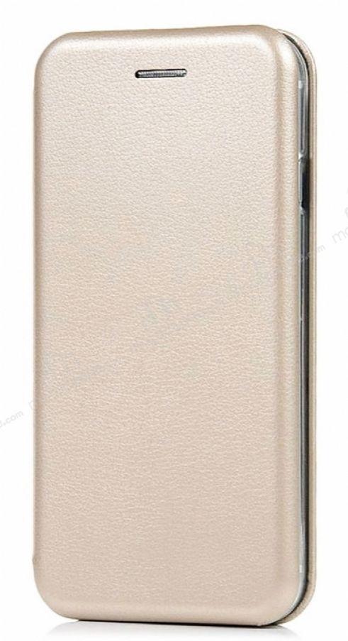 Samsung Galaxy J7 Prime / J7 Prime 2 Curve Manyetik Kapaklı Gold Deri Kılıf