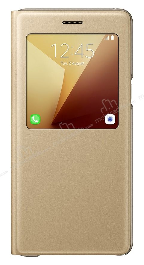 Samsung Galaxy Note 7 Orjinal Pencereli S View Cover Gold Kılıf