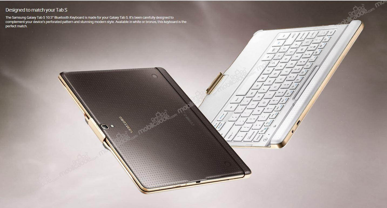 samsung galaxy tab s 10 5 orjinal beyaz bluetooth klavye. Black Bedroom Furniture Sets. Home Design Ideas