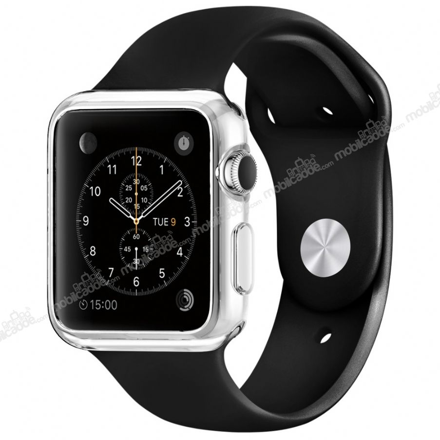 Spigen Apple Watch / Watch 2 Liquid Crystal Ultra Koruma Şeffaf Kılıf (42 mm)