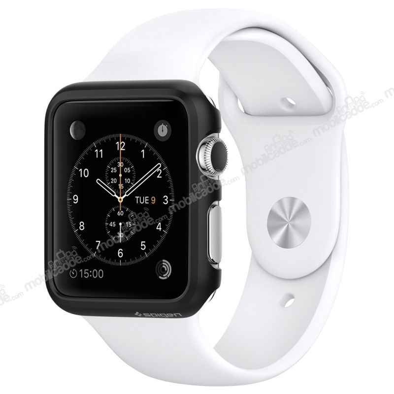 Spigen Apple Watch Thin Fit Siyah Kılıf (38 mm)
