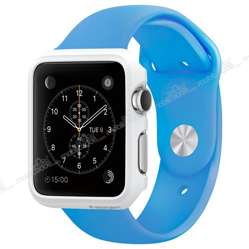 Spigen Apple Watch / Watch 2 Thin Fit Beyaz Kılıf (42 mm)