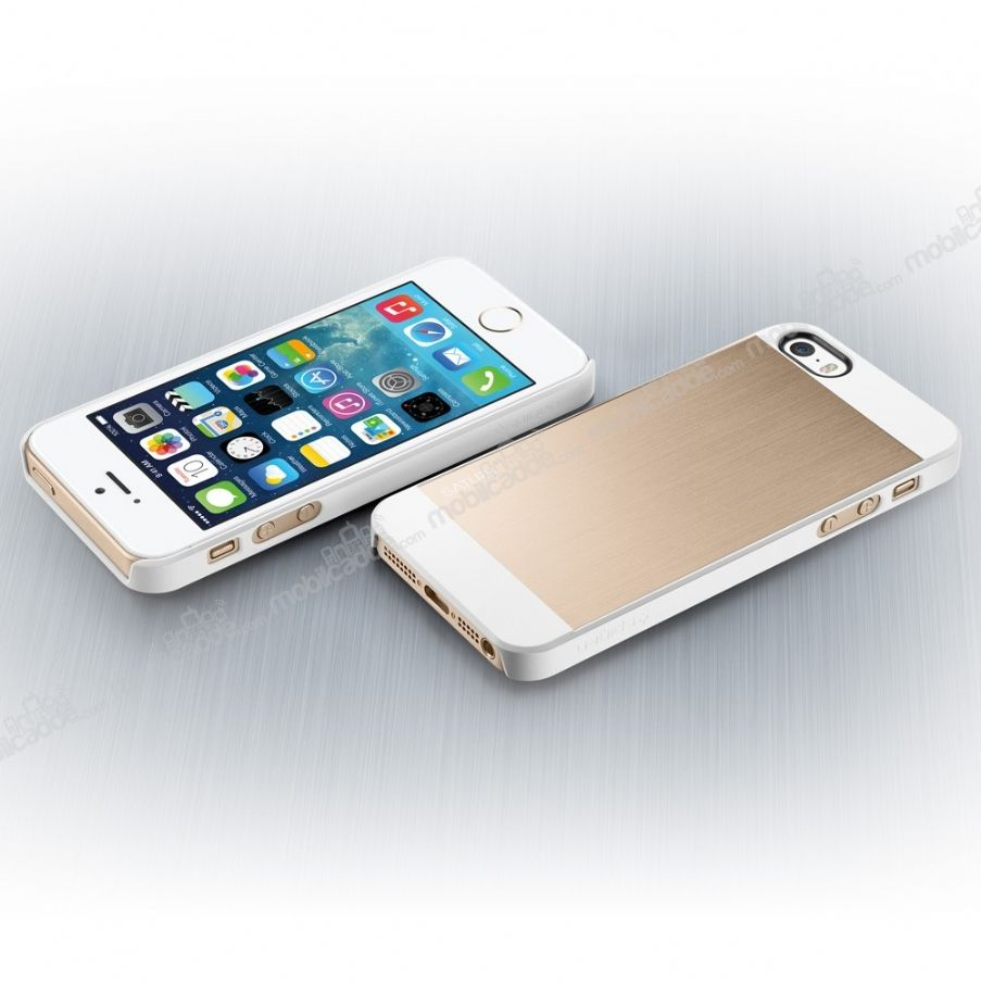 spigen iphone se 5 5s saturn gold rubber k l f. Black Bedroom Furniture Sets. Home Design Ideas
