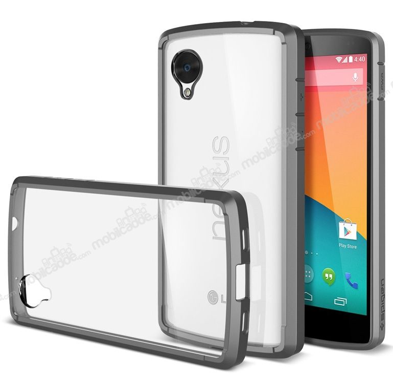 Spigen lg google nexus 5 ultra hybrid gri k l f cretsiz for Spigen nexus 5 template