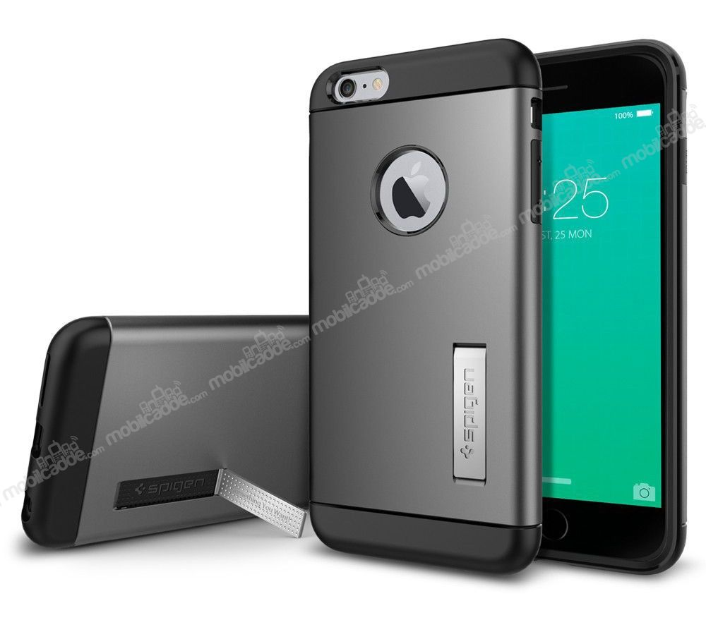 Spigen Slim Armor iPhone 6 Plus / 6S Plus Gunmetal Kılıf