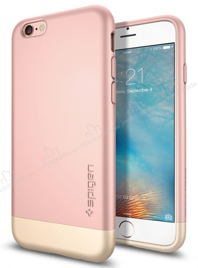 Spigen Style Armor iPhone 6 / 6S Rose Gold Kılıf