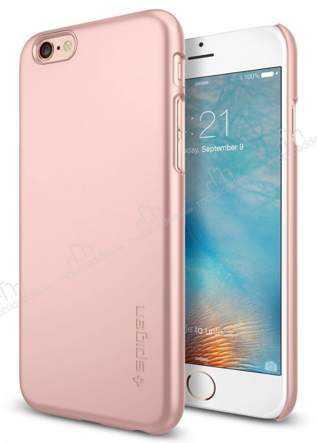 Spigen Thin Fit iPhone 6 Plus / 6S Plus Rose Gold Rubber Kılıf
