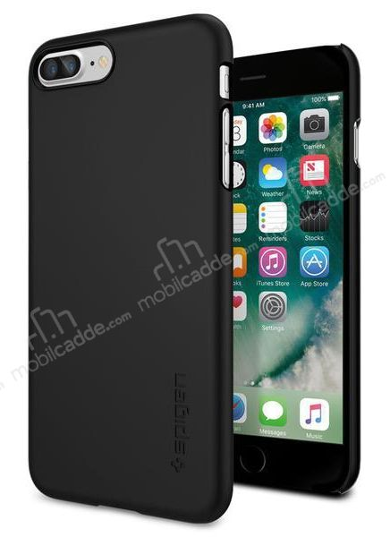 Spigen Thin Fit iPhone 7 Plus / 8 Plus Siyah Rubber Kılıf
