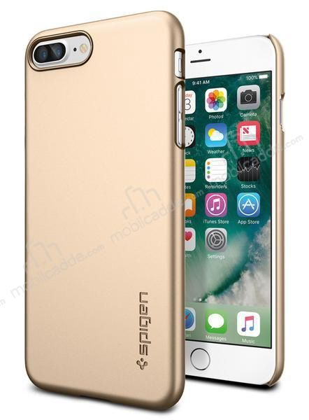 Spigen Thin Fit iPhone 7 Plus Gold Rubber Kılıf