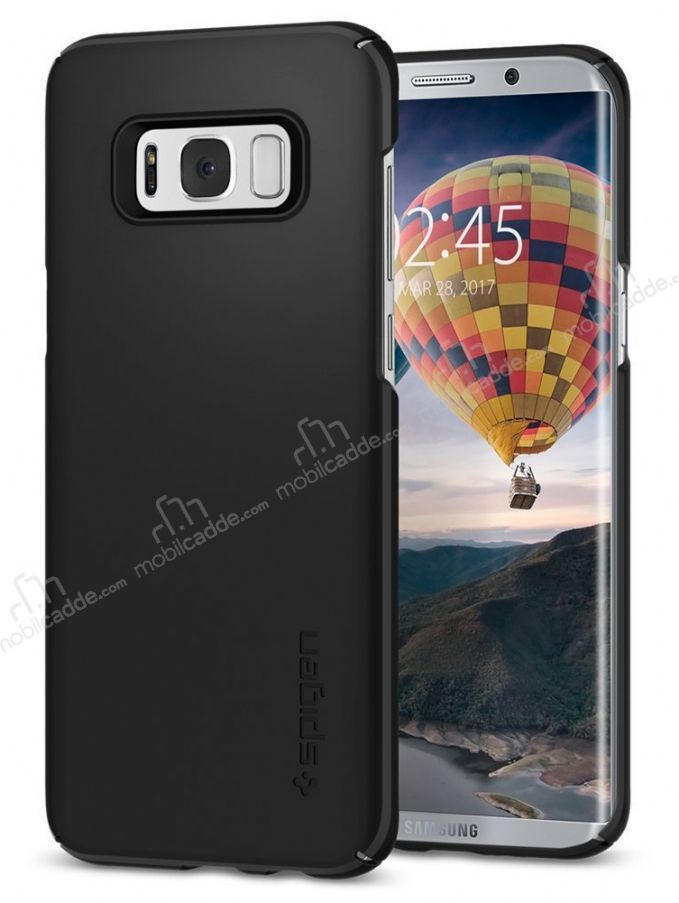 Spigen Thin Fit Samsung Galaxy S8 Plus Siyah Rubber Kılıf