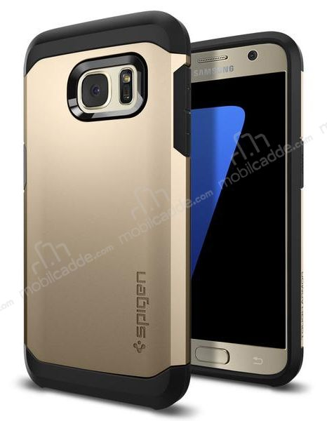 Spigen Tough Armor Samsung Galaxy S7 Gold Kılıf