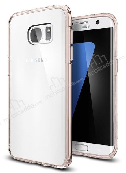 Spigen Ultra Hybrid Samsung Galaxy S7 Edge Rose Gold Kılıf