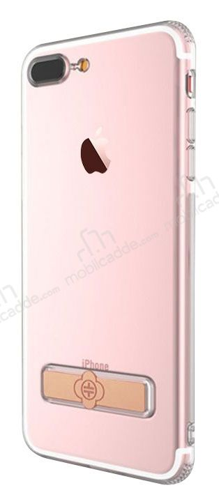 Totu Design Keen iPhone 7 Plus / 8 Plus Standlı Rose Gold Silikon Kılıf
