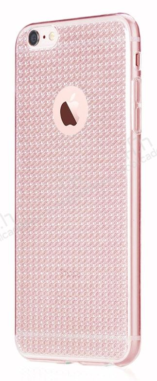 Totu Design Optic Texture iPhone 6 / 6S Rose Gold Silikon Kılıf
