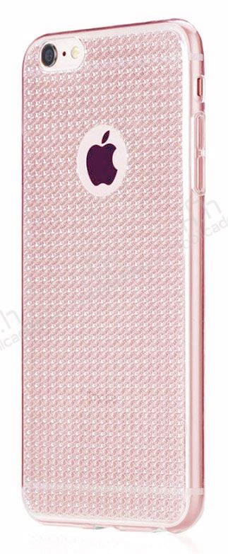 Totu Design Optic Texture iPhone 6 Plus / 6S Plus Rose Gold Silikon Kılıf