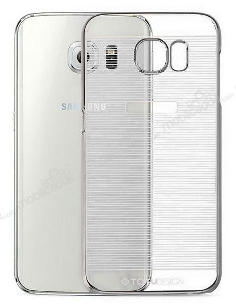 Totu Design Breeze Samsung i9800 Galaxy S6 Dark Silver Rubber Kılıf