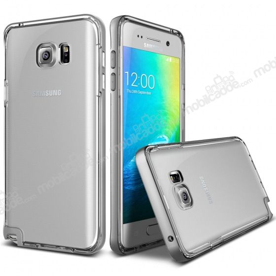 Verus Crystal Bumper Samsung Galaxy Note 5 Light Silver Kılıf
