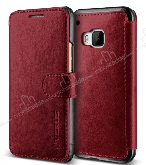 Verus Dandy Layered Leather HTC One M9 Kırmızı Kılıf