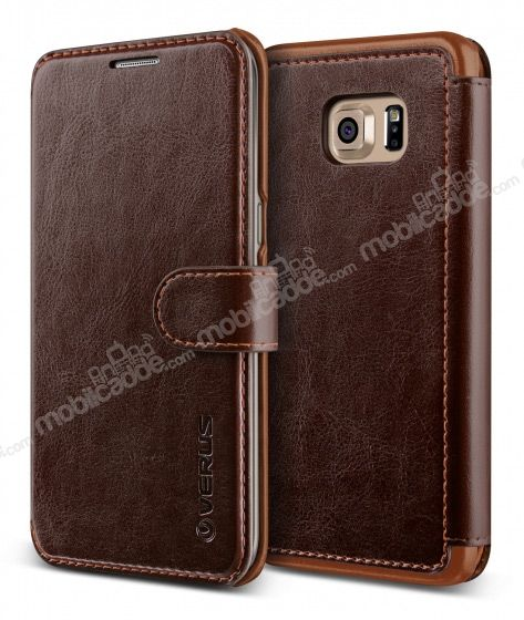 Verus Dandy Layered Leather Samsung Galaxy S6 Edge Plus Kahverengi Kılıf